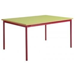 Table maternelle 4 pieds 160x80 mélaminé chants ABS T1 à T4