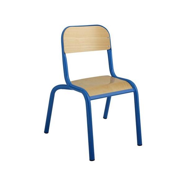 Chaise maternelle 4 pieds chants protégés NF T1 à T3