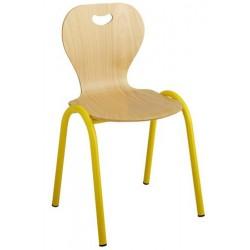 Chaise coque bois 4 pieds maternelle T1 à T4