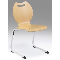 Chaise appui sur table Lise hêtre vernis T1 à T3