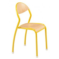 Chaise empilable Faustine anti-bruit NF éducation T1 à T3