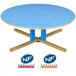 Table bois NF Pioupiou ronde diam. 120 cm pied central TC à T3