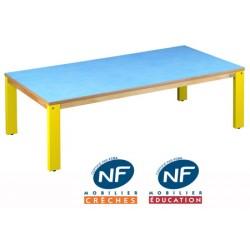 Table bois NF Pioupiou 120x60 cm TC à T3