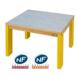 Table bois NF Pioupiou 60x50 cm TC à T3