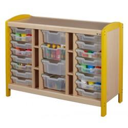 Rangement à 16 casiers H7,5 et 4H15cm 3 colonnes H97 cm