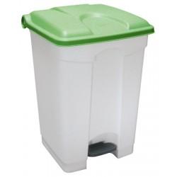 Collecteur JVD à pédale HACCP couvercle vert 45 L
