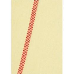 Lot de 100 torchons coton écru 2 liteaux damiers rouge 60x80 cm