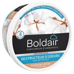 Lot de 6 boites 300g de gel destructeur d'odeurs fleur de coton Boldair