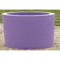 Jardinière Provence béton coloré diam 115xH80 cm