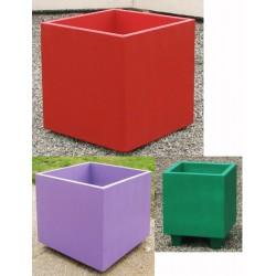 Jardinière bretagne béton coloré 60x60xH60 cm
