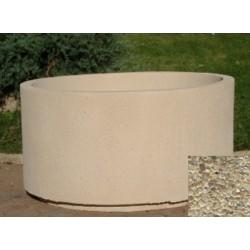 Jardinière ronde 254L diam 100xH55 cm gravillons lavés fins