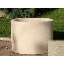 Jardinière ronde 59L diam 60xH45 cm ton pierre sablé