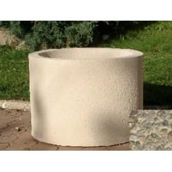Jardinière ronde 59L diam 60xH45 cm gravillons lavés gros