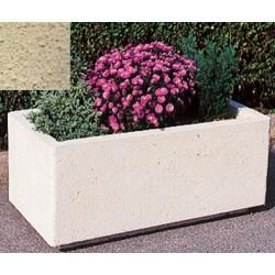 Jardinière rectangulaire 106L 100x50xH45 cm ton pierre sablé