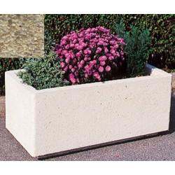 Jardinière rectangulaire 106L 100x50xH45 cm gravillons lavés fins