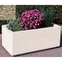 Jardinière rectangulaire 106L 100x50xH45 cm gravillons lavés gros