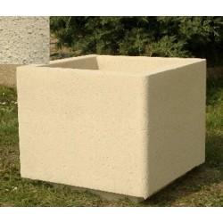 Jardinière carrée 50x50xH45 cm ton pierre sablé