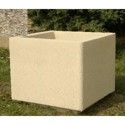 Jardinière carrée 50x50xH45 cm gravillons lavés fins
