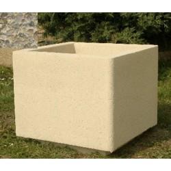 Jardinière carrée 50x50xH45 cm gravillons lavés gros