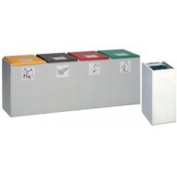 Poubelle tri sélectif 40L : conteneur simple