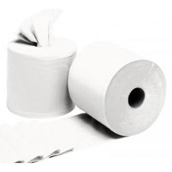 Carton de 6 bobines à dévidage central blanc 2 plis 450 formats 19,4 x 30 cm