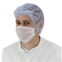 Boite de 100 masques papier 1 pli blanc