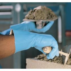 Paire de gants jersette 300 latex naturel bleu 31 cm taille 7 à 7,5