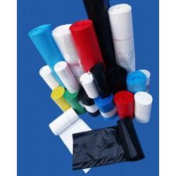 Carton de 20 rlx de 25 sacs poubelles50L hd 14 microns noir