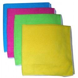 Sachet de 5 lavettes microfibre light multi usages 40 x 40 cm vert