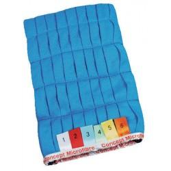 Sachet de 2 gants vitre 26 x 14 cm bleu