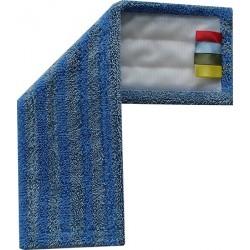 Mop Micro-gliss velcro 48 cm bleue