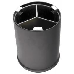 Poubelle JVD tri sélectif 3 flux 13L noire