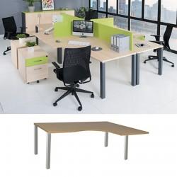 Bureau compact 4 pieds Exprim 180 cm à droite