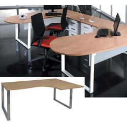 Bureau plan compact 2 pieds 1 poutre Urban L 180 cm à droite