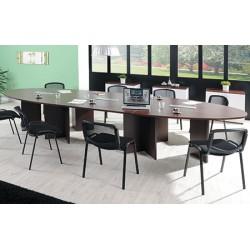 Table ovale modulaire 280 x 140 cm pieds croix