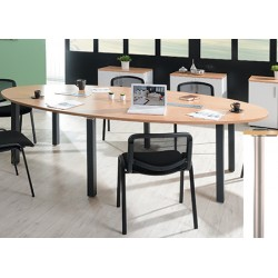 Table ovale modulaire 280 x 140 cm pieds tubes