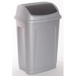 Lot de 5 poubelles polypropylène à trappe basculante 25L
