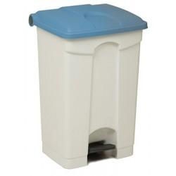 Collecteur JVD à pédale HACCP 70 L couvercle bleu