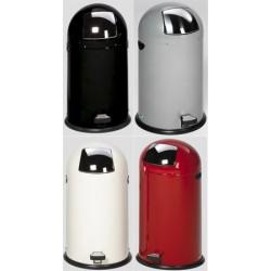Poubelle dôme 40L avec pédale anti-odeur et non-feu