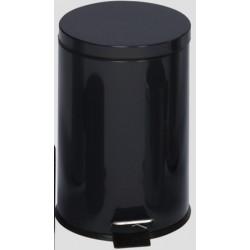 Poubelle à pédale 12L coloris noir