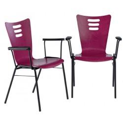 Lot 2 accoudoirs pour chaise coque bois Katie