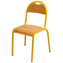 Chaise Classe 4 pieds assise et dossier hêtre taille 4 à 6