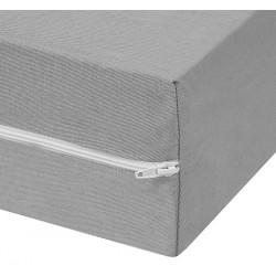 Housse de matelas polyester et polypropylène Azur ép 15 cm 80x190 cm