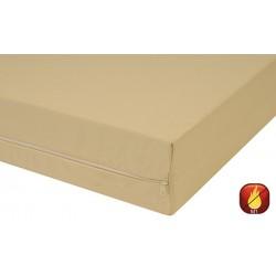 Housse de matelas polyester M1 zip acier ép 15 cm 80x200 cm