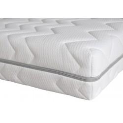 Housse de matelas polyester matelassé Nuage ép 16 cm 90x190 cm
